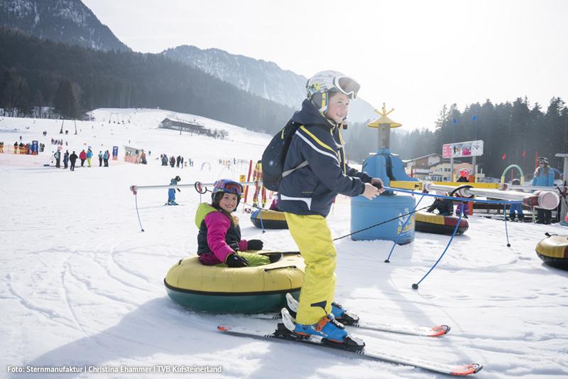 Skigebiet am Hochfeldlift in Schwoich - empfehlen wir besonders für Familien mit Kindern