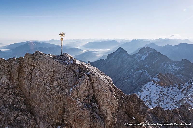 Zugspitze – Top of Germany (25 km, 35 Minuten von Eschenlohe zur Zugspitze Talstation)