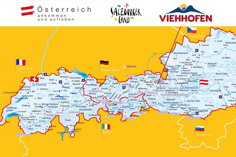Viehhofen liegt mit seiner Nähe zu den besten Ausflugszielen und der perfekten Mischung aus Erholung, Erlebnis und Kultur