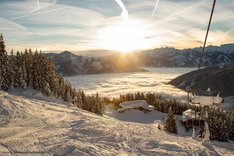 Panorama Aussicht auf der Schmittenhöhe