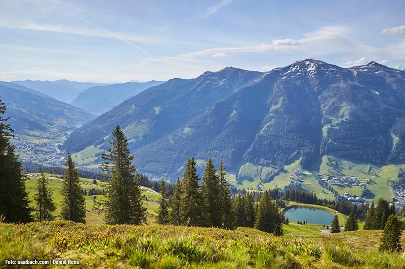 Viehhofen liegt zwischen Zwischen Zell am See und Saalbach-Hinterglemm