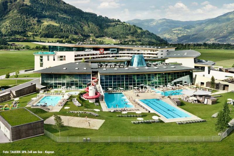 Entspannung & Erholung findest Du auch im 20.000 m² großen SPA, Wasser- & Saunawelt TAUERN SPA Zell am See-Kaprun