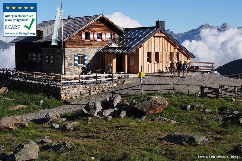 Die Ascherhütte auf 2.256 m Seehöhe gehört zu den schönsten Plätzen im gesamten Paznaun