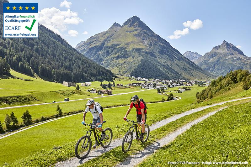 Mit dem E-Bike kommen auch untrainiertere Mountainbiker in den Genuss der beeindruckenden Hochgebirgslandschaft der Silvretta
