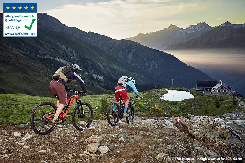 Im Paznaun sind die meisten Hütten auch bequem mit dem E-Bike zu erreichen