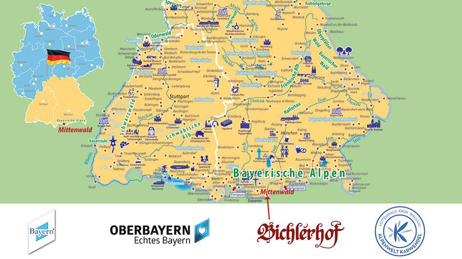 Auf dieser Karte siehst Du, wo sich das Hotel Bichlerhof befindet