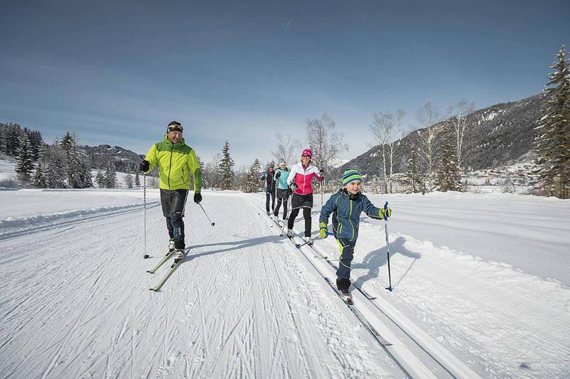 40 km Doppelspur- & Skatingloipen durchziehen das sonnige und nebelfreie Weissensee-Tal