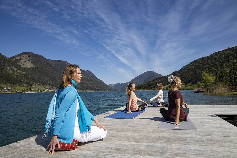 2x wöchentlich kannst Du im Nagglerhof am Yoga-Kurs teilnehmen