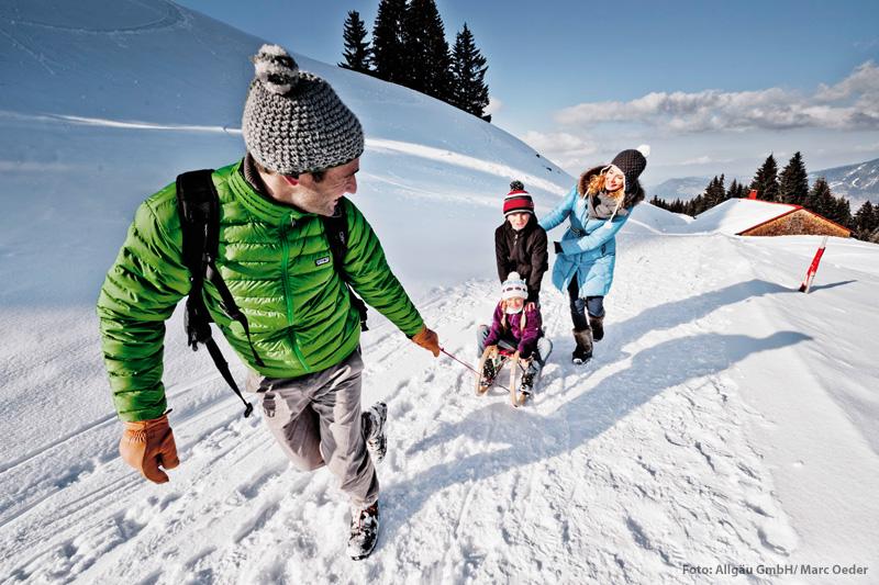 Rodeln im Skigebiet Fluckenlift in Maierhöfen