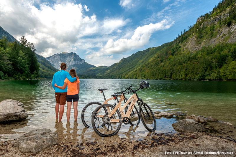 Mit dem E-Mountainbike zum Traunsee
