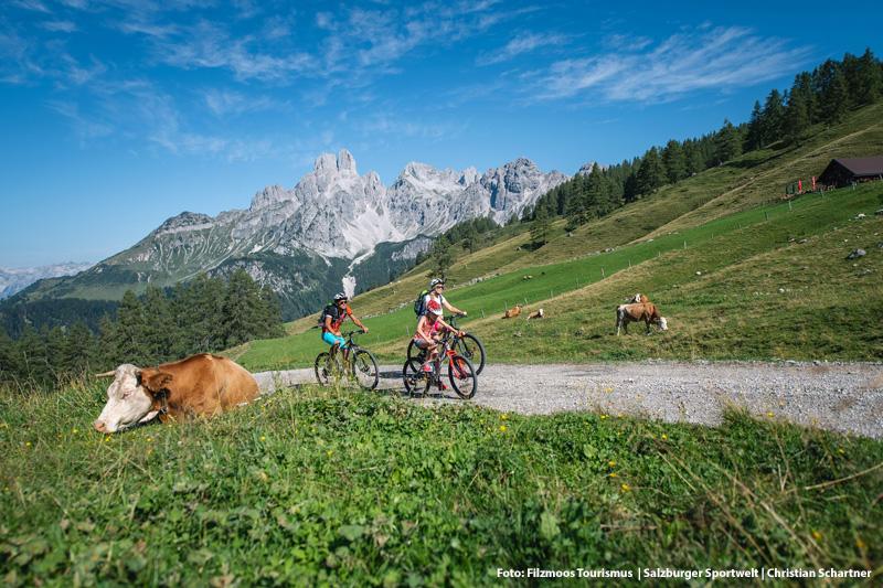 Familienfreundliches Mountainbiken im idyllischen Hofalmgebiet  von Filzmoos