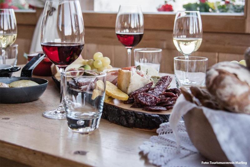 Herbsturlaub im Weindorf Marling bei Meran