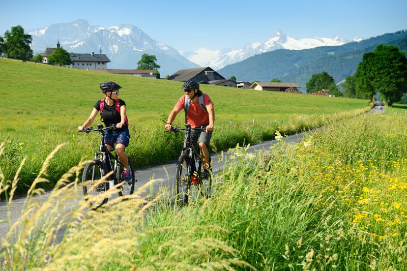 Die Radwege führen in die Nachbarorte Saalfelden, Zell am See oder Maria Alm
