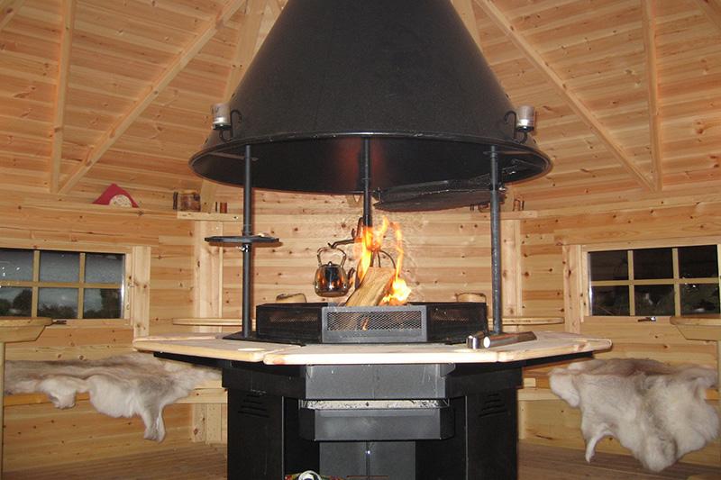 Wintergrillen in der Hütte ist auch kein Problem!